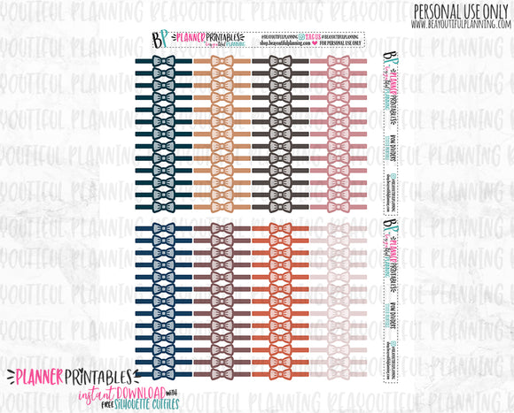 Bow Dividers Functional Printable *Additional Colors Available*