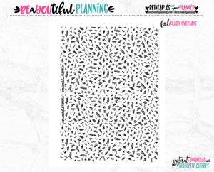 Confetti Monthly Overlays Foil Ready Printable