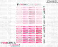 Date Covers Functional Printable *Additional Colors Available*
