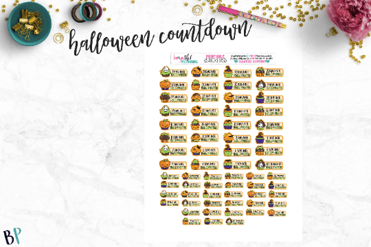 image regarding Countdown Printable titled Halloween Countdown Printable