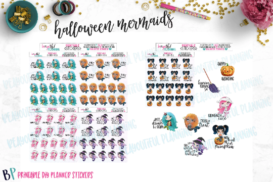 Halloween Mermaids Printable