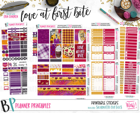 Love at first Bite Weekly Printable