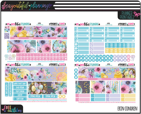April Foil Ready Monthly Printable