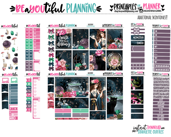 Destiny Printable Planner Sticker Weekly
