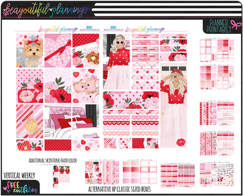 Hearts Weekly Printable *Choose Your Planner*