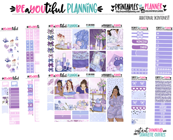 PJ's and Friends Printable Planner Stickers