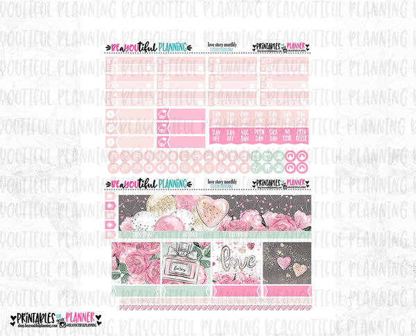 Love Story Monthly Printable
