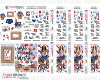 America Weekly Printable Stickers