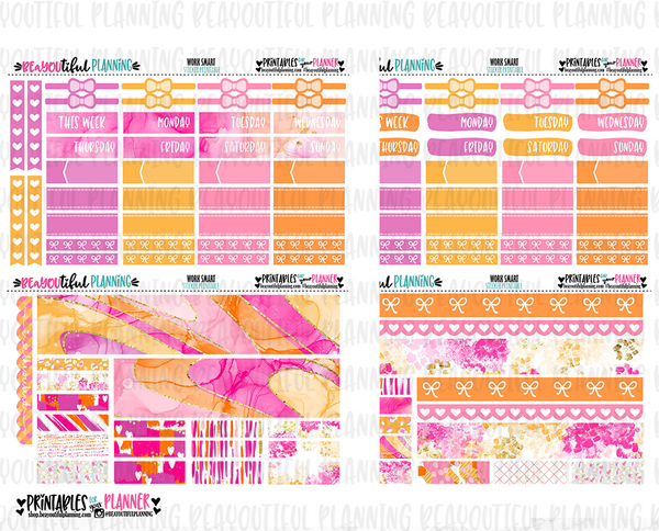 Work Smart Printable Planner Stickers