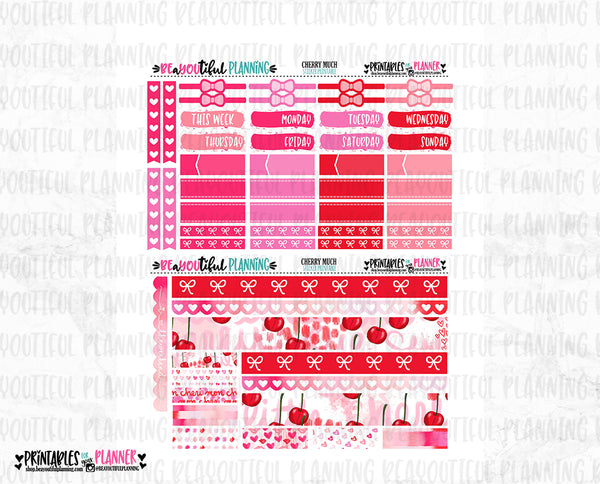 Cherry Much Weekly Printable