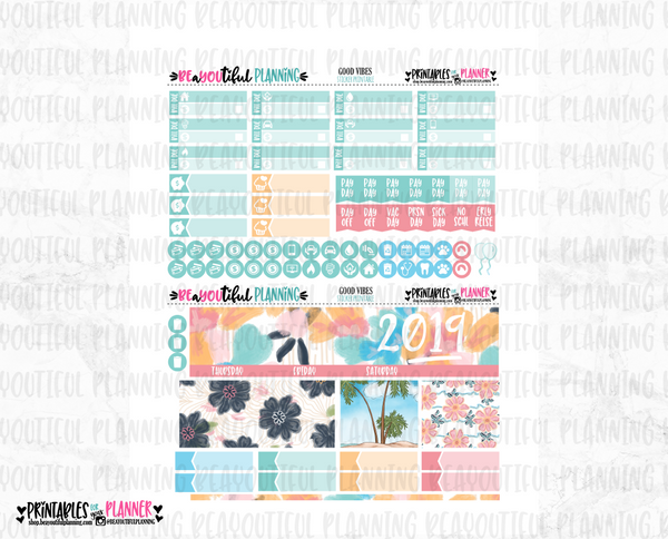 June Good Vibes Monthly Printable