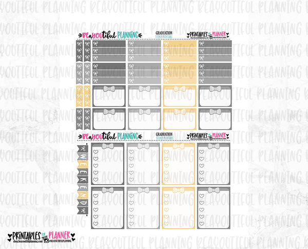 Graduation Printable Planner Stickers