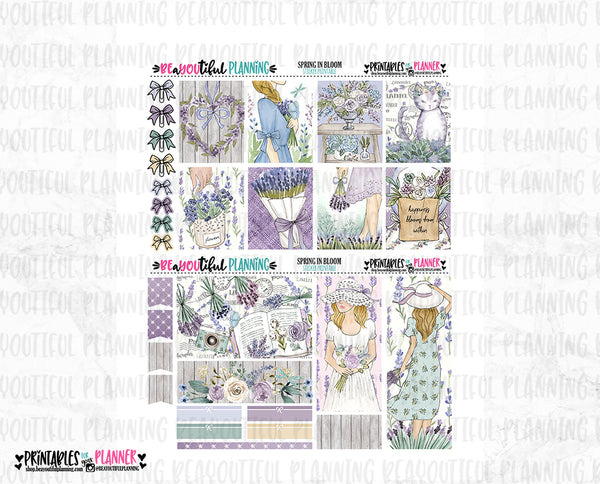 Spring in Bloom Lavender Weekly Printable
