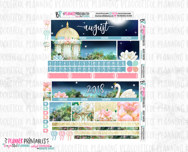 August Monthly Printable Stickers