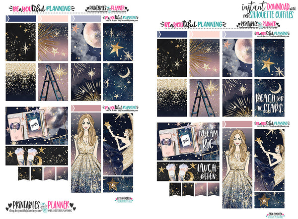 Reach for the Stars Foil Ready Weekly Printable