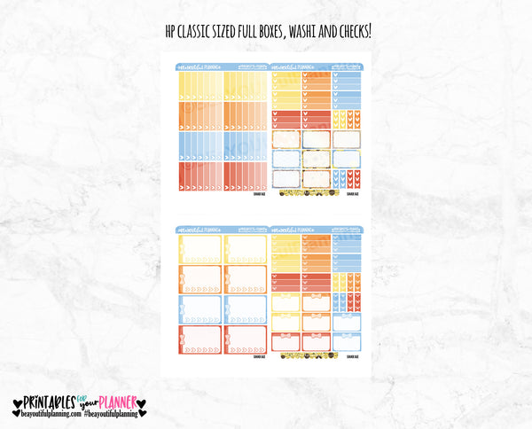 Summer Daze Foil Ready Printable Planner Stickers