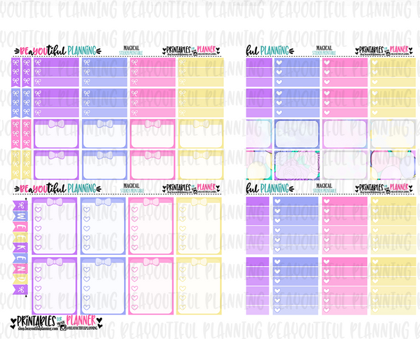 Magical Printable Planner Stickers