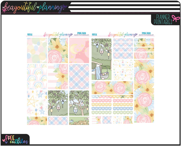 Spring Charm Weekly Printable *Choose Your Planner*