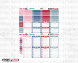 American Weekly Planner Sticker Printable