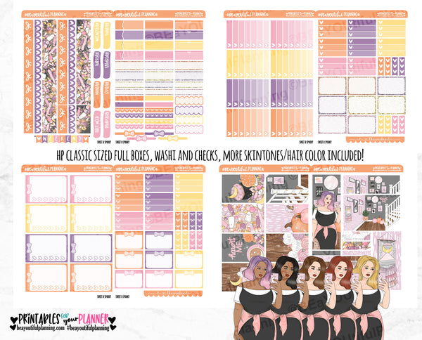 Sweet and Spooky Weekly Printable Planner Stickers