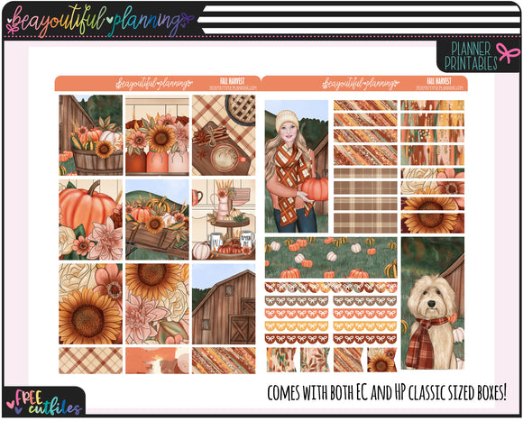 Fall Harvest Weekly Printable *Choose Your Planner*