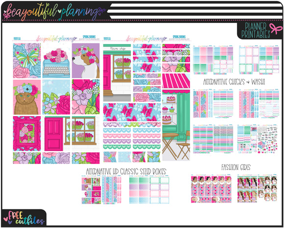 Spring Blooms Weekly Printable *Choose Your Planner*