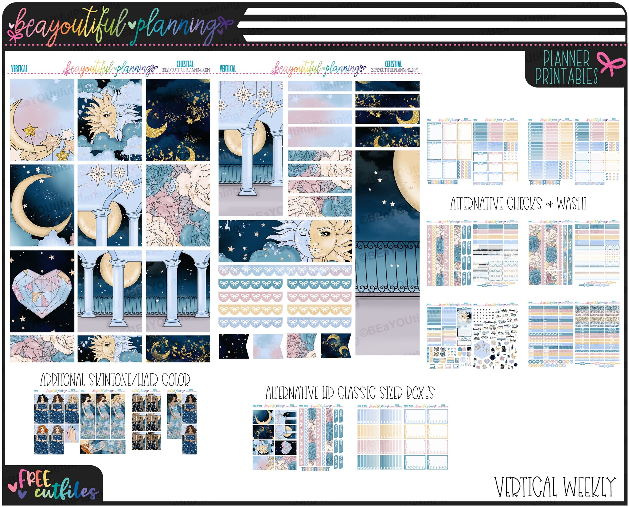 Celestial Weekly Printable *Choose Your Planner*