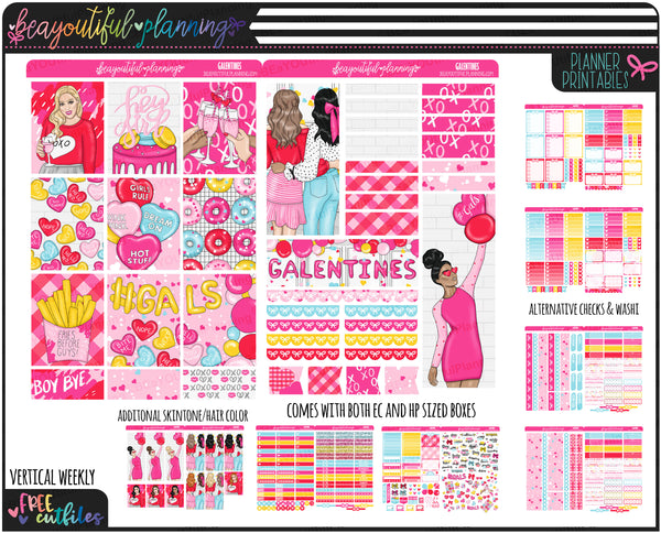 Galentines Weekly Printable *Choose Your Planner*