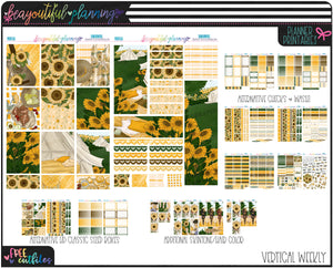 Sunflowers Weekly Printable *Choose Your Planner*