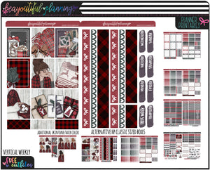 Buffalo Plaid Weekly Printable *Choose Your Planner*
