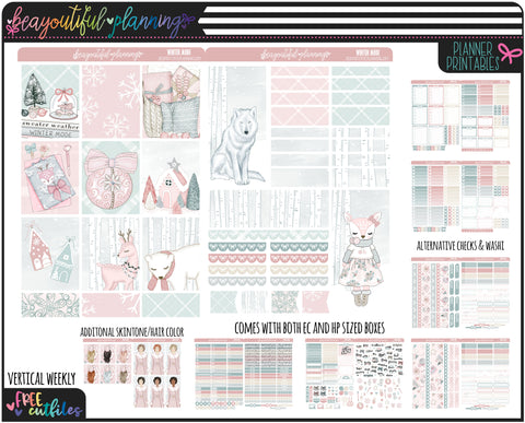 Winter Mode Weekly Printable *Choose Your Planner*