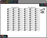 Film Labels Functional Printables * Choose Rainbow or Foil Ready *