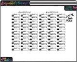 Movie Night Labels Functional Printables *Choose Rainbow or Foil Ready *