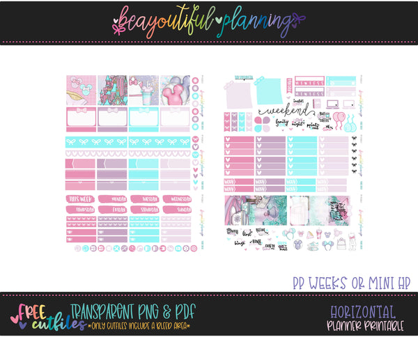 Magique - Weekly Planner Printable -Choose from - Vertical - PP Weeks - Horizontal