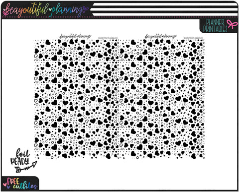 Hearts Underlays Foil Ready Overlay Printable