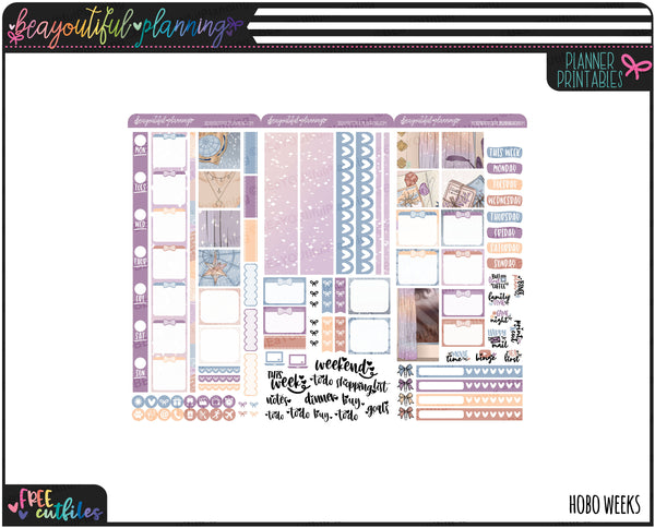 Stars and Moon Weekly Printable *Choose Your Planner*