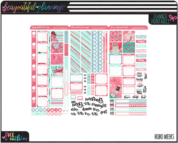 Kiss Me Weekly Printable *Choose Your Planner*