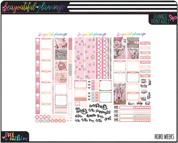 Party Time Weekly Printable *Choose Your Planner*