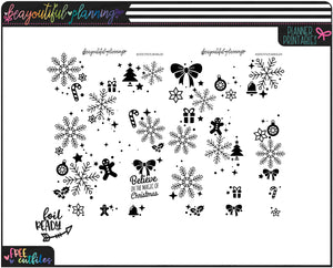 Holly Jolly Christmas Overlays Foil Ready Printable