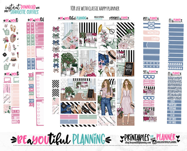 Hello Spring Weekly Printable