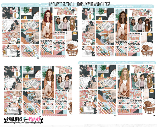Calm Weekly Printable Planner Stickers
