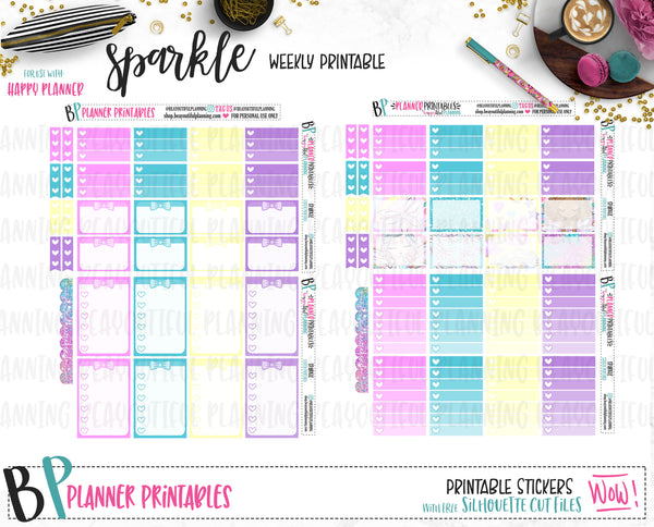 Sparkle Weekly Printable