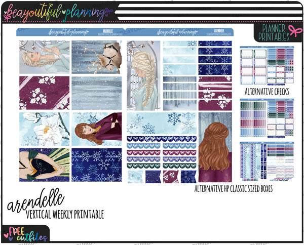 Arendelle Weekly Printable *Choose Your Planner*