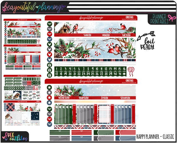 Winter Robin Monthly Printable *Choose Your Planner*