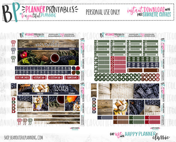 November Real Photo Monthly Printable