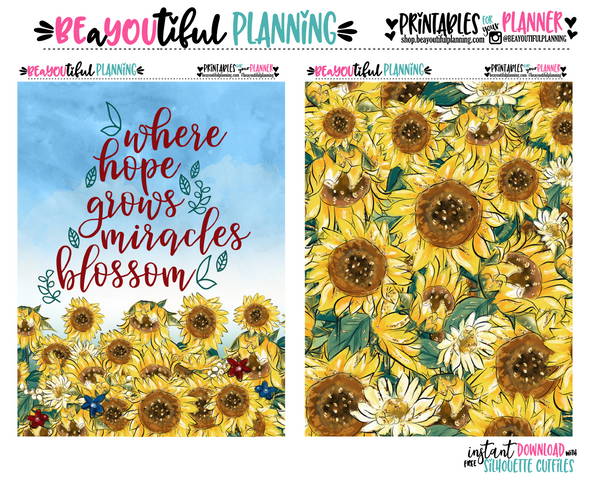 Sunflower Cover Printable