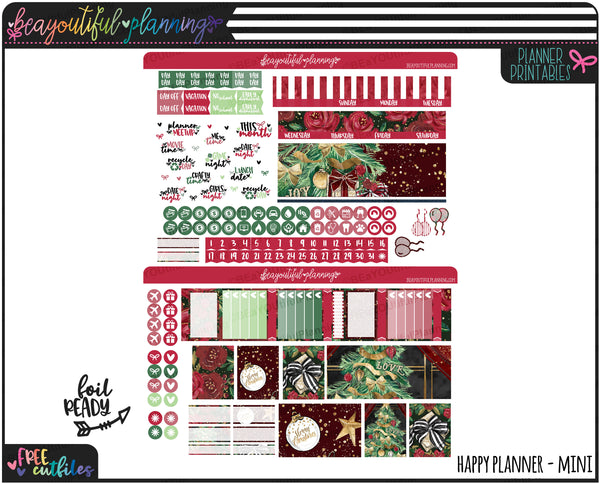 Christmas Monthly Printable *Choose Your Planner*