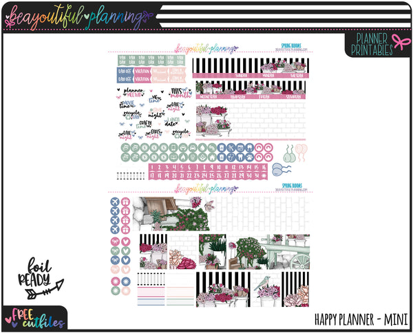 Spring Blooms Monthly Printable *Choose Your Planner*