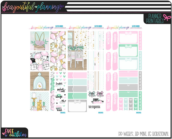 Easter Dinner Weekly Printable *Choose Your Planner*
