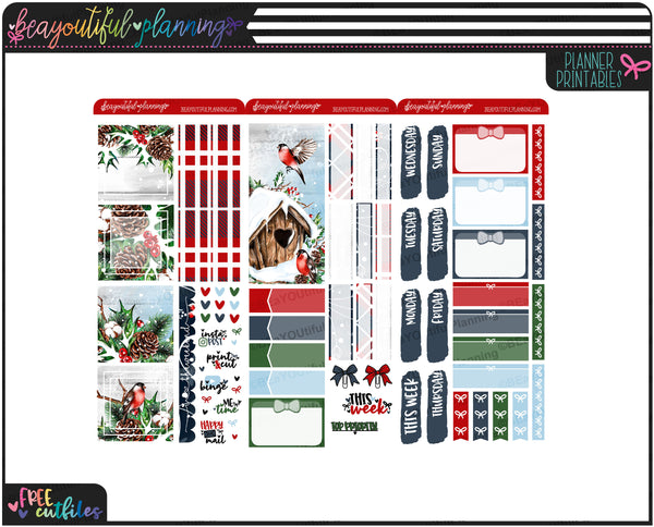 Winter Robin Weekly Printable *Choose Your Planner*